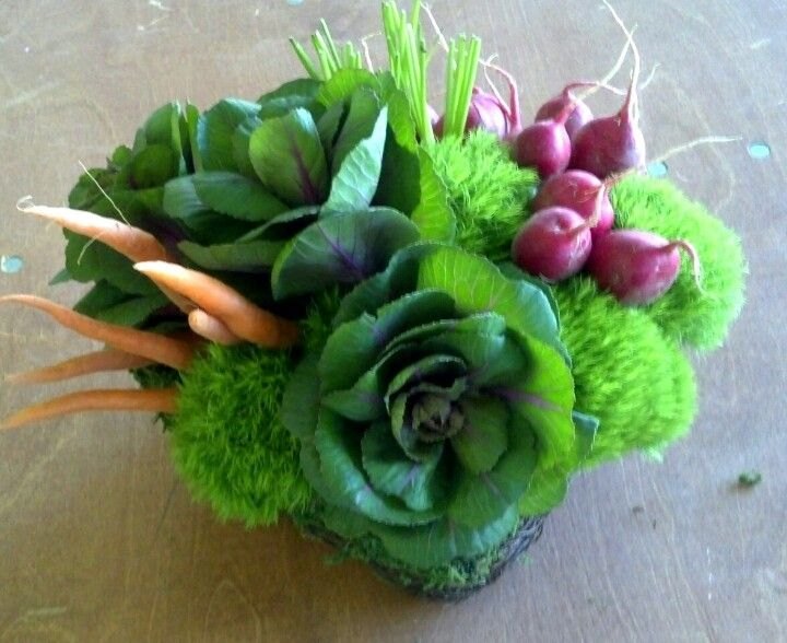 Veggie flower arrangement