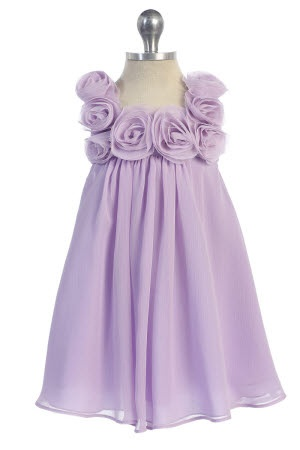 Possible flower girl dress. White or pink. $37 Lilac Chiffon A-line Infant Flower Girl Dress CB-611-LC