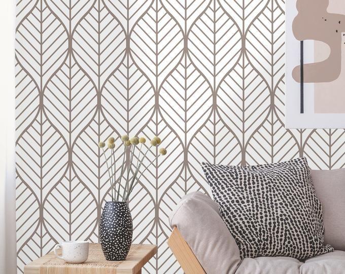 Removable Peel N Stick Wallpaper Self Adhesive Wall Etsy Geometric Wallpaper Removable Wallpaper Floral Wallpaper