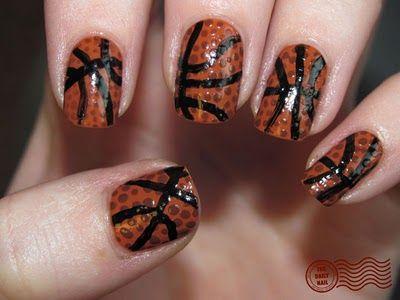 basketball nails!❤