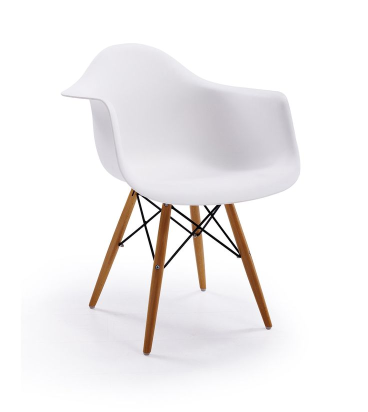 Replica designer chair in white with various combinations for workspace design. Replica designer furniture. Wholesale inquires @howimports