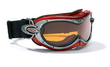 ruby Small Ski Goggles-Silver Rimmed Goggles Sporty snow goggles for kids and young adults. Particularly well suited for wearing with a ski helmet. 1. 100% UV-A -B  -C protection to 400nm 2. Turbo Venting System 3. Fogstop Coating http://www.comparestoreprices.co.uk/ski-equipment/ruby-small-ski-goggles-silver-rimmed-goggles.asp
