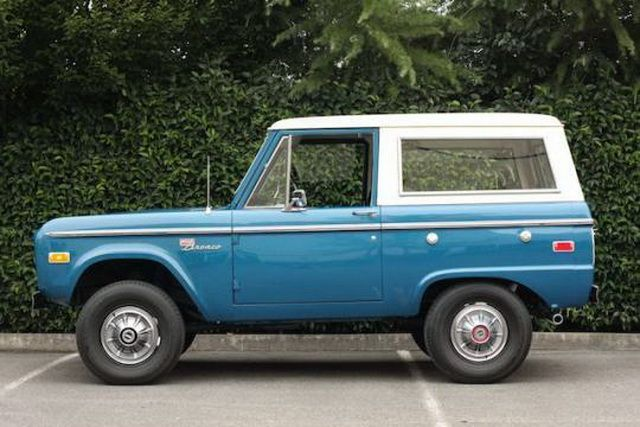 There's just something deeply endearing and almost cute about the way the first-gen Ford Bronco looks, especially if it's not jacked up on silly suspension stilts and off-road rims. This example looks like it came out of the factory gates in 1975, and while not completely stock, it does a great job of looking like it.