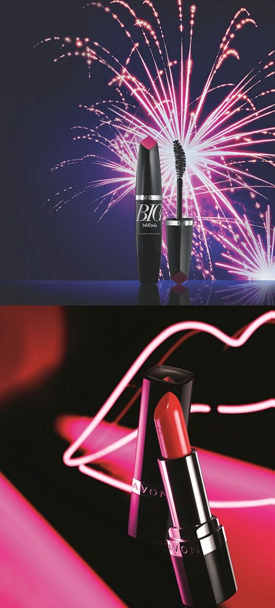 The NEW Big & Daring Volume Mascara and Ultra Color Bold Lipstick #DareToBeBold #AvonRep