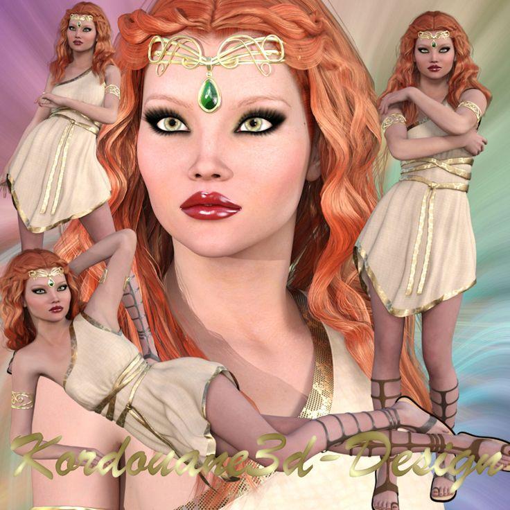 Romanne : 4 tubes de femme de la Rome antique