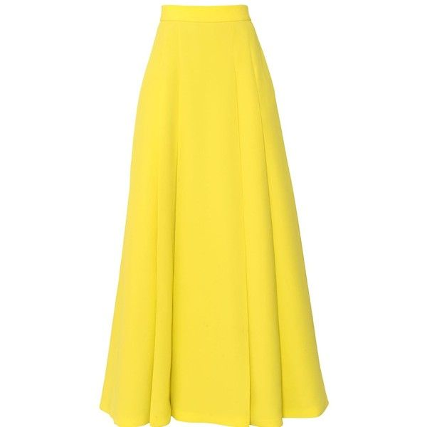 FAUSTO PUGLISI High Waisted Viscose Cady Long Skirt found on Polyvore
