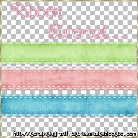 Suede-Looking Ribbons (Scrap Stuff with PSP Tutorials)