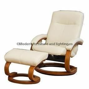 SWIVEL RECLINER CHAIR WITH FOOT STOOL IN CREAM BONDED LEATHER WE DON T SELL A GRADE FACTORY REFURB ITEMS ALL OF OUR ITEMS ARE 100 BRAND NEW AS YOU