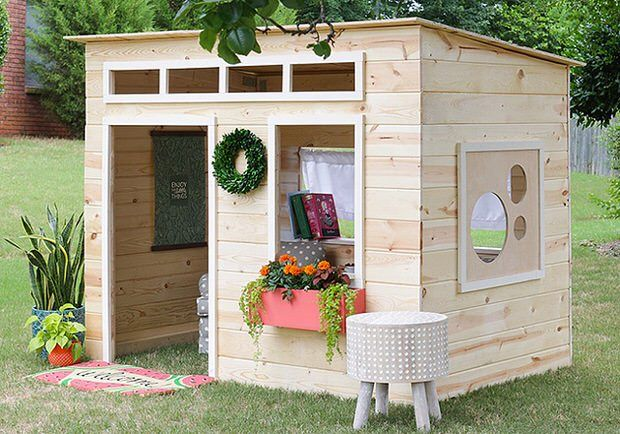 "How to Build a Backyard Playhouse | The Garden Glove ~ Maybe your kids have been trapped inside during a long winter, or perhaps you have already run out of ways to tell them to ""go play outside"" in the summer, but we have got a really cool solution for keeping the kids busy outdoors. These DIY playhouses take kids outside in all but the worst weather and help them foster their sense of imagination and play. And hey, who wouldn't want a place like this to themselves? [...]"