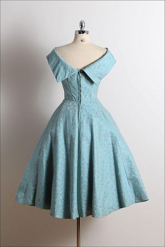 Reservado / / / vestido Vintage años 50 por millstreetvintage