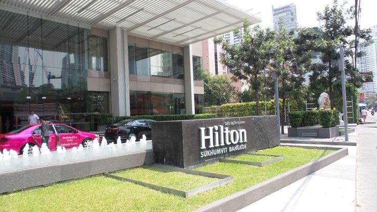 Entrance to the Hilton Sukhumvit Bangkok Hotel