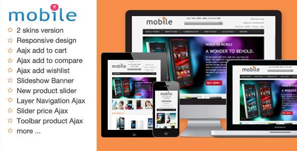 MobileDark Responsive Magento Theme (Magento)