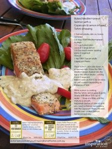Baked Mediterranean salmon with a Capsicum & lemon infused tahini dressing - Your Inspiration at Home - Recipes