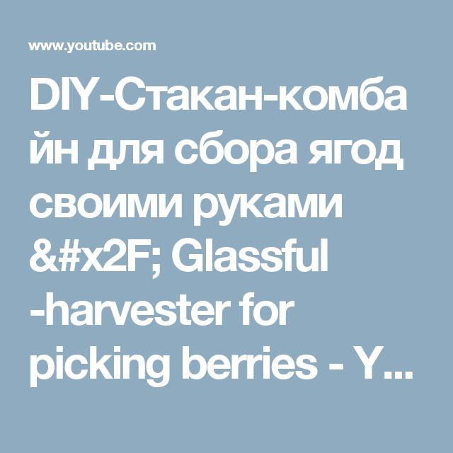 DIY-Стакан-комбайн для сбора ягод своими руками / Glassful -harvester for picking berries - YouTube