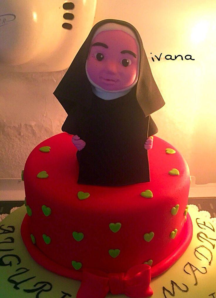 Nun fondant cake