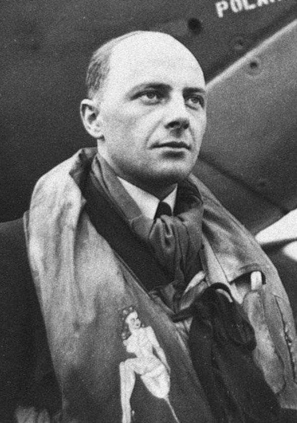 Kapitan (Flight Lieutnant) Eugeniusz Szaposznikow (17 July 1917 - 08 July 1991). Victories: 8 & 1/3 confirmed - 1 probable - 0 damaged. Awards: Krzyż Srebrny Orderu Virtuti Militari (The Silver Cross of Virtuti Militari), Krzyż Walecznych 4-krotnie (Cross of Valour and 3 bars), Distinguished Flying Medal.