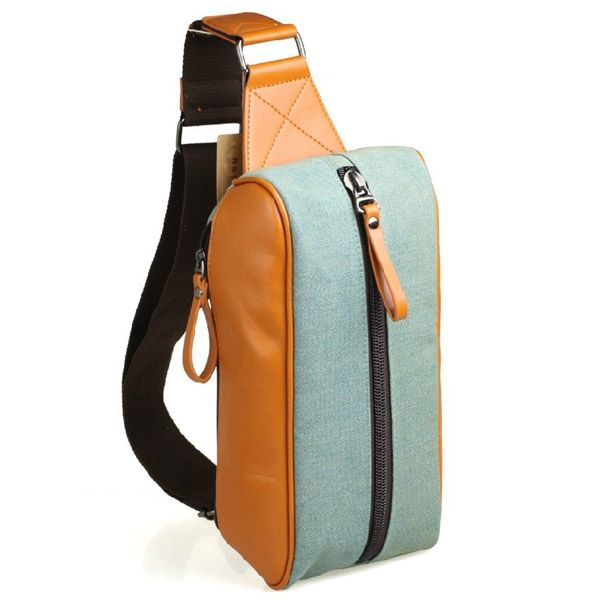 Custom One Shoulder Backpack,Direct Supplier From China,Material:PU+Canvas,Features:1)Customized Color and Size,2)OEM/ODM Available,3)Multi-functional,4)High Quality and Water-proof Material.