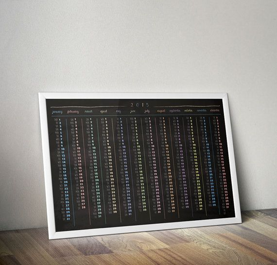 2015 Wall Calendar Poster 05 // Home decor / by GraphicOverdrive