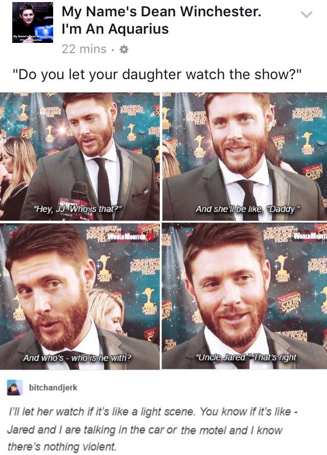 """What if she watched the show as a teen and understood more in the scenes when he's  with other women""""who the hell is that woman in bed with you?!?!?"""""""