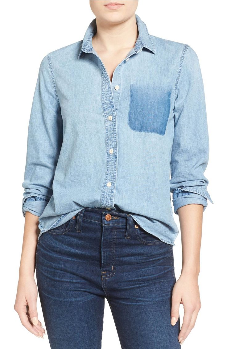 Madewell Shrunken Chambray Shirt - $47.70