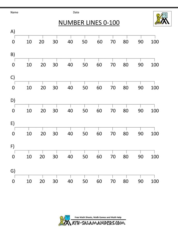 Best Maths  Worksheets Images On   Number Lines
