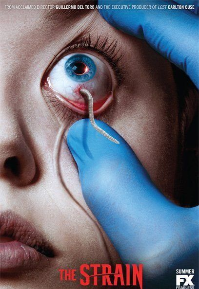 The Strain (TV Series 2014– ) is an upcoming vampire horror television series that is in production at FX. It was created by Guillermo del Toro and Chuck Hogan, based on their novel trilogy of the same name.