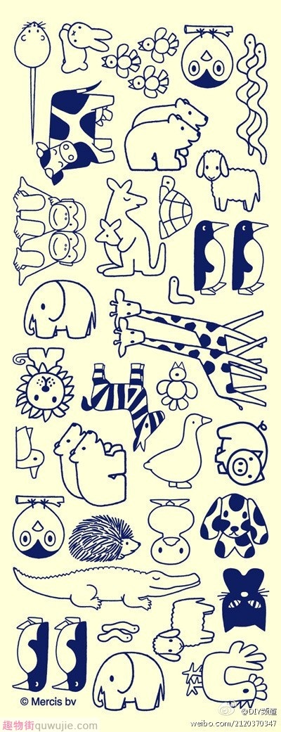 Could use as animal templates (e.g. for a memo game, for dice, for flashcards, for...) and for colouring!