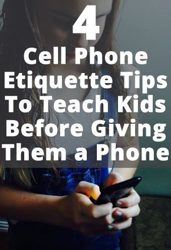 Cell phone etiquette is a thing we must teach our kids! Many years ago, we gave our daughter a cheap cell phone. She was YOUNG, but the phone was cheap and