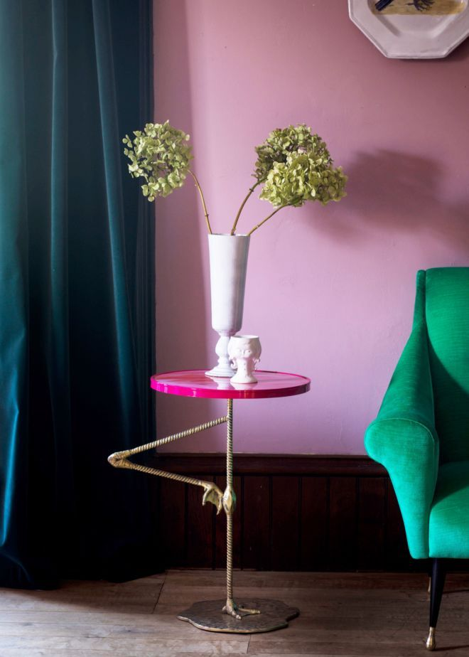 Flamingo Pink Wine Table - Furniture - Matthew Williamson