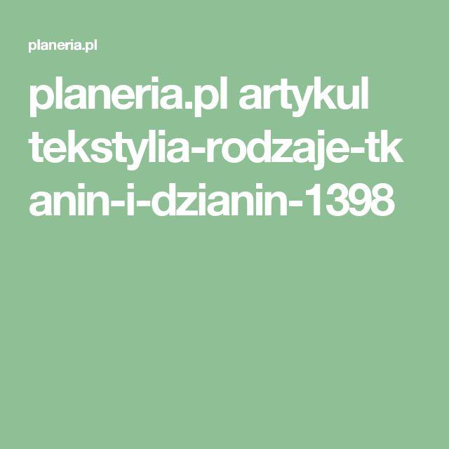 planeria.pl artykul tekstylia-rodzaje-tkanin-i-dzianin-1398