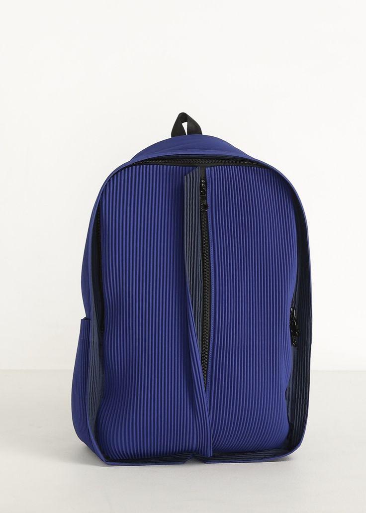 Issey Miyake Pleats Please Backpack Blue