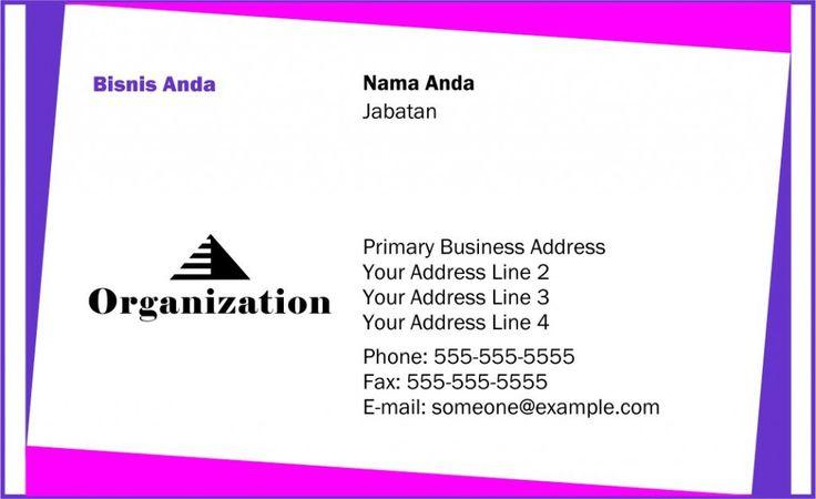 Template Kartu Nama - Free Download - Desain Vector - 50
