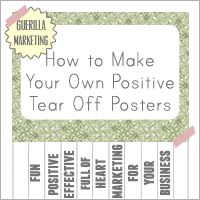 DIY positive tear off posters: cultivate positivity!