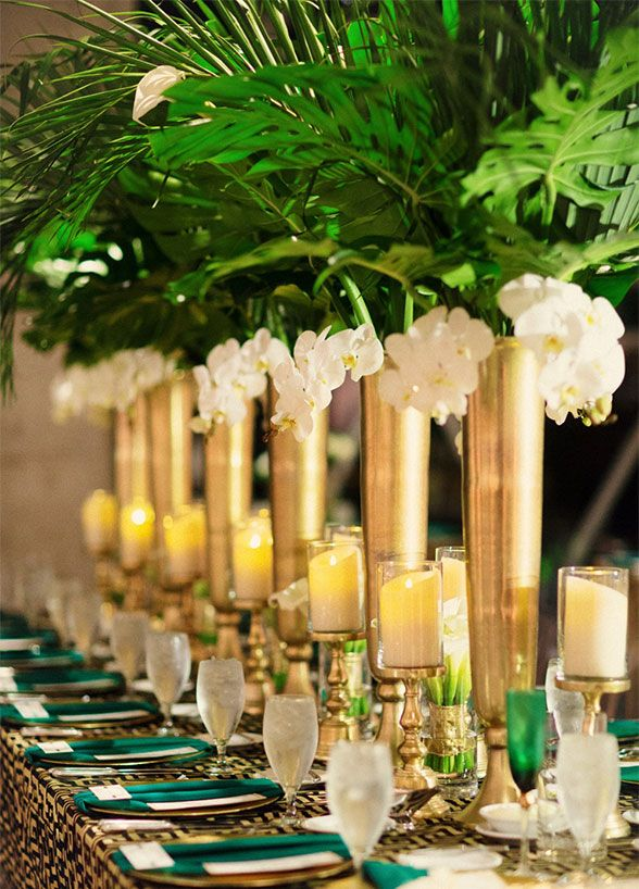 Yes, flowers are always fabulous, but the latest trend in wedding décor has us seeing green. Lush greenery is a unique and equally beautiful alternative to florals. The best part? The options for using this design element at your event are virtually endless. Read on for our favorite ways to use chic
