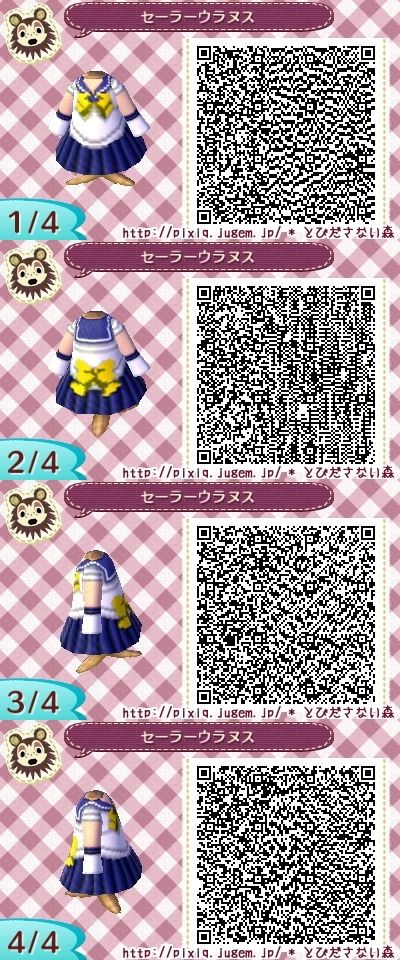 SAILOR MOON. URANUS. ANIMAL CROSSING NEW LEAF. QR CODE. ACNL