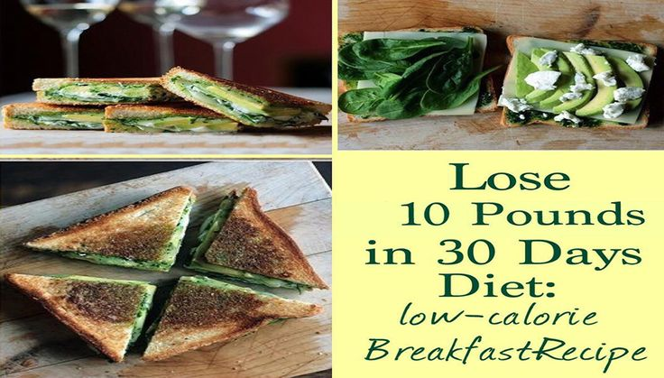 The Lose 10 Pounds in 30 Days Diet: Low-Calorie Breakfast Recipes Yep, you can eat waffles and bagels and still lose weight! Begin your day with these healthy, low-calorie breakfasts, and then eat healthy for the rest of the day with the lunch and dinner recipes in this diet for…