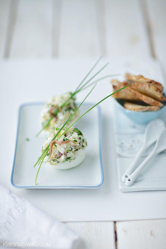 Jajka nadziewane pastą z anchois
