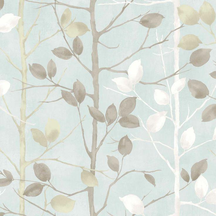Arthouse Woodland Wallpaper - Duck Egg 630700