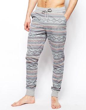 ASOS Slim Fit Lounge Sweatpants With Aztec Print!!