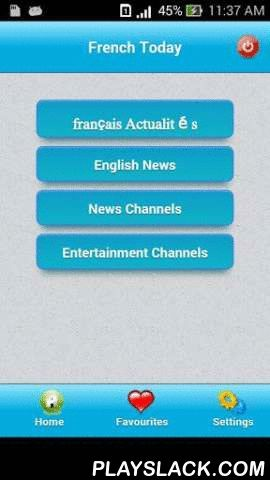 France Today - News  Android App - playslack.com , France Today News is an app to keep up-to-date with the latest news happening in France and all over the world. App is capable of storing news locally to read the news in offline mode without internet connection.Some of the important features:- App has got all the important news from all the popular newspapers.- You have the capability to store all the news locally in your favourites for a particular category with one click. Once the news…