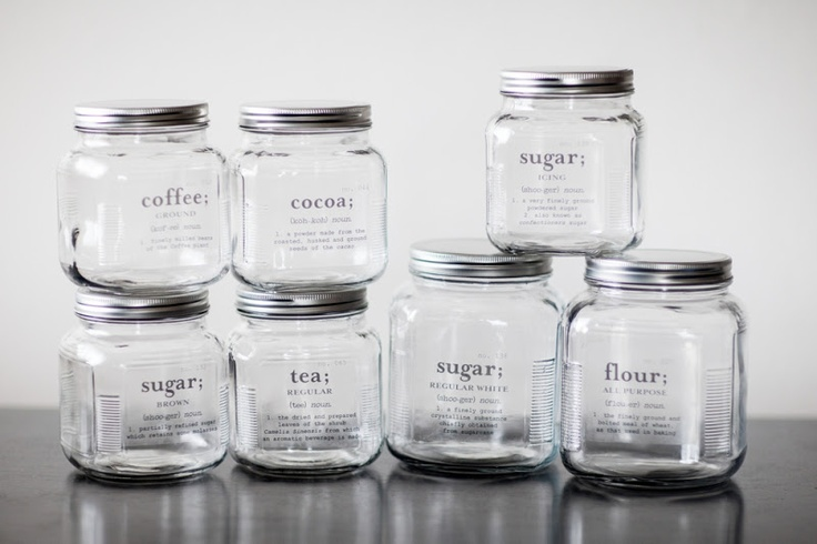 Diy Custom Kitchen Canisters Based Off Of The Tutorial By