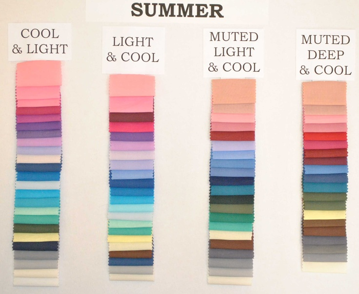 .Summer colour palettes