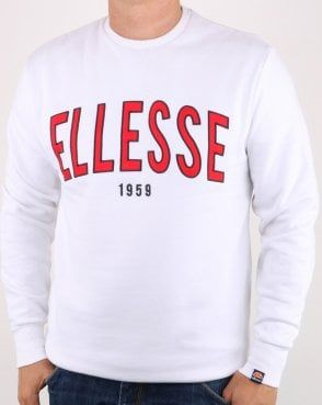 5a7d7a848 Ellesse 90's Outline Sweat White Ellesse, Hoodies, Sweatshirts, Lacoste,  Graphic Sweatshirt,