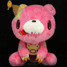 GLOOMY BEAR Plush Doll Sweets & Messy Party 2 Pink Jumbo Big Size Rare LTD JAPAN