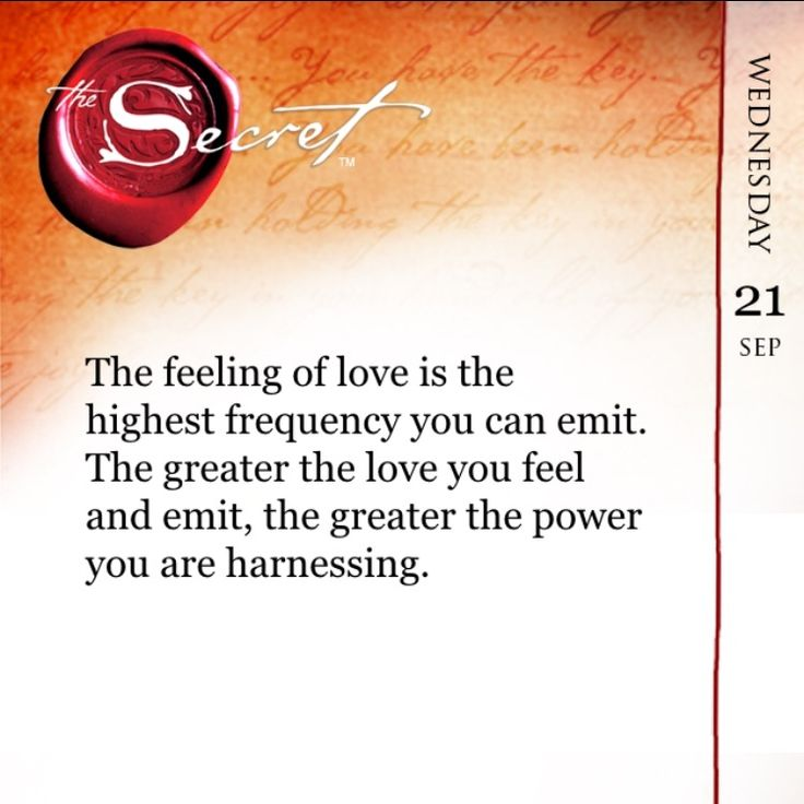 The feeling of love is the highest frequency you can emit. The greater the love you feel and emit, the greater the power you are harnessing. Learn how to harness your connection to the feeling of Love every day to create the life of your dreams with The Secret Daily Teachings App: http://apple.co/1Ocxc3w