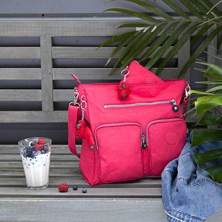 Kipling bag in refreshing flamboyant pink colour