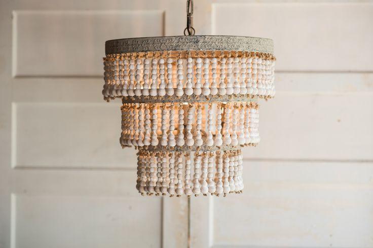Wood Beaded Light Fixture: 1000+ Ideas About Beaded Chandelier On Pinterest