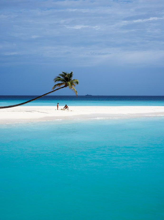 a secluded beach.