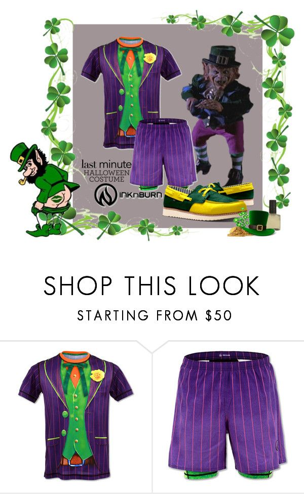 """Evil Leprechaun Costume - Accessory Links in Description"" by wackyworkshop ❤ liked on Polyvore featuring men's fashion, menswear, halloweencostume, idxshoes and idx"