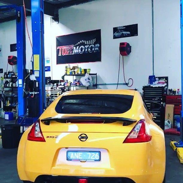 370z with Invidia Exhaust  #nissan #nissan370z #370z #z34 #jdm #melbourne #melbournecarspotters #vermont #melbournecars #carservice #workshop #mechanic #automotive #performance #performancecars
